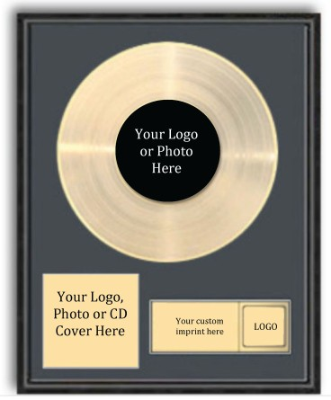 Gold or Silver LP with photo and personalized plate