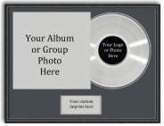 Large LP photo with gold or silver LP personalized plate